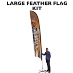 LARGE CUSTOM PRINTING FEATHER ADVERTISING FLAG KIT (Single-Sided)