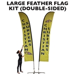 LARGE CUSTOM PRINTING FEATHER ADVERTISING BANNER FLAG KIT (Double-Sided)