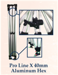 PRO LINE X 40mm Aluminum Hex Leg (10ft X 10ft)- FRAME ONLY