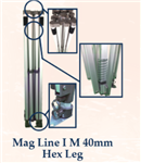 MAG LINE I M 40mm Aluminum Hex Leg (10ft X 20ft)- FRAME ONLY