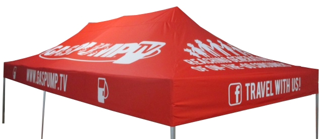 10 x 20 custom printed canopy cover for event tent frame - Custom Pop Up Tents