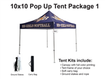 10 X 10 Event Pop Up Tent w/ Custom Printed Canopy, PLUS carry bag and ground spikes
