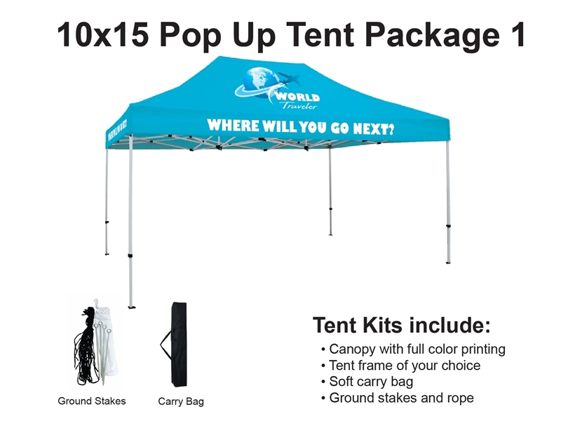 Alternative Views  sc 1 st  Sign Pipers & 10 X 15 Event Pop Up Tent w/ Custom Printed Canopy.