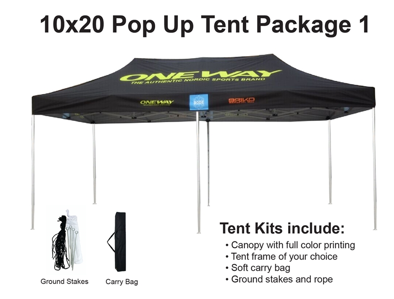 Alternative Views  sc 1 st  Sign Pipers & 10 X 20 Event Pop Up Tent w/ Custom Printed Canopy. Lowest NET ...