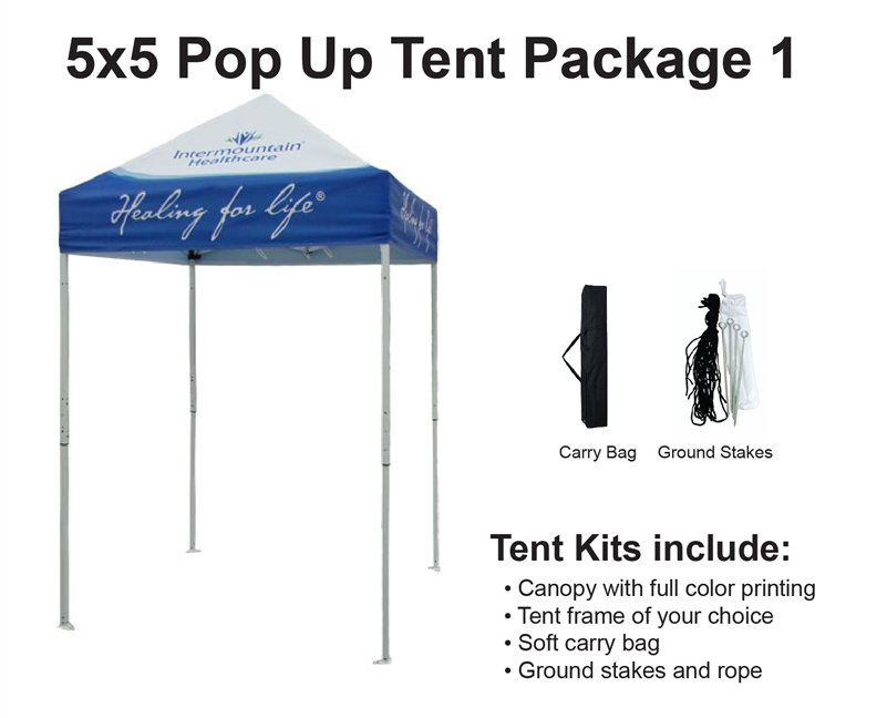 Alternative Views  sc 1 st  Sign Pipers & X 5 EVENT TENT W/ CUSTOM PRINTED CANOPY