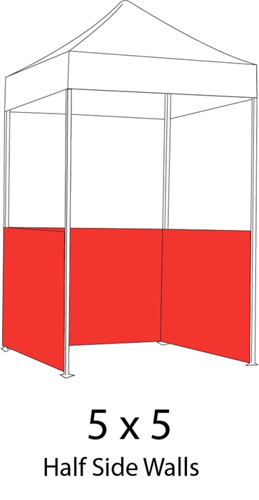 1/2 Side Wall for 5x5 Pop-up Tent  sc 1 st  Sign Pipers : 5x5 pop up tent - memphite.com