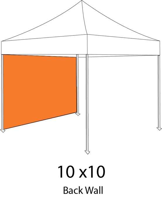 Full Back Wall or Side Wall for 10x10 Pop-up Tent  sc 1 st  Sign Pipers & Back Wall or Side Wall for 10x10 Pop-up Tent