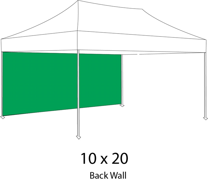Full Back Wall for 10x20 Pop-up Tent  sc 1 st  Sign Pipers & Back Wall for 10x20 Pop-up Tent