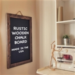 "40"" x 30"" Rustic Wood Chalkboard Sign"