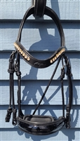 Dressage Collection large crank noseband double bridle Pony Size