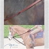 Dy'on Collection Leather Draw Reins with rubber lining