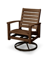 Signature Swivel Rocker Chair (Bronze Frame)