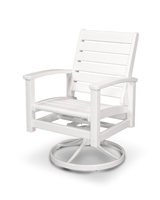 Signature Swivel Rocker Chair (White Frame)