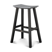 "Contempo 30"" Saddle Bar Stool (Black Frame)"