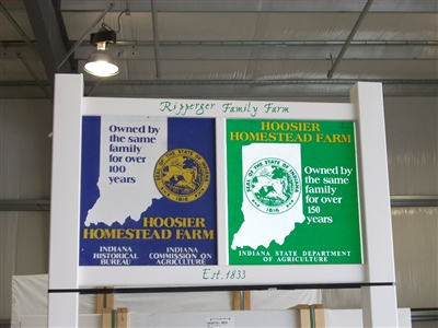 Double Hoosier Homestead Sign