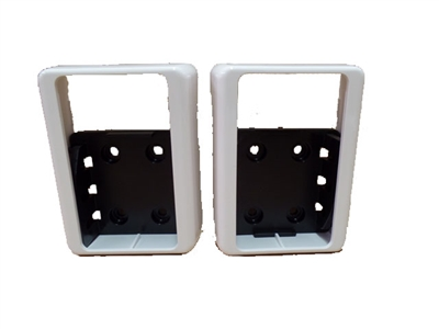 "2"" x 3-1/2"" Covered Level Rail Brackets (Pair)"