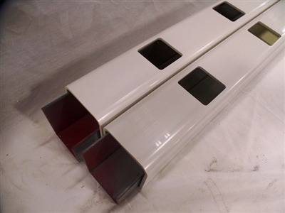 "White Sheffield 36"" Vinyl Railing Sections"