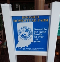 Single Hoosier Homestead Sign