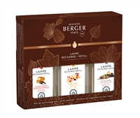 z 2018 Autumn Tripack - Pumpkin Delight, Dried Fruits, By The Fireside Maison Berger Fragrance Oil 3x180ml