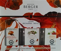 z 2019 Fall Tripack - Pumpkin Delight, Home Sweet Home, Red Berries, Maison Berger Fragrance Oil 3x180ml