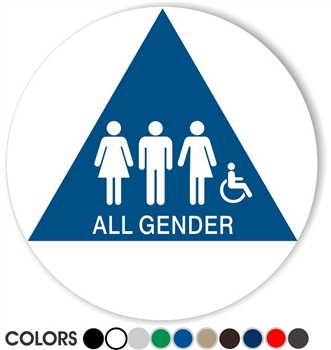All Gender California Restroom Sign