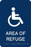 ADA Braille Area of Refuge Sign