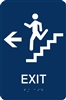 ADA Braille Stair Exit Directional Sign