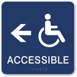Accessible directional Braille Sign