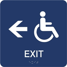 Accessible Exit directional Braille Sign