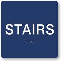 Stairs Braille Sign