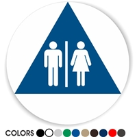 Title 24 Geometric Restroom Sign