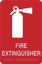 ADA Braille Fire Extinguisher Sign