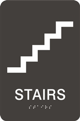 ADA Braille Stairs Sign
