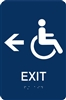 ADA Braille Handicap Exit Directional Sign