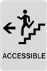 ADA Braille Stair Accessible Directional Sign