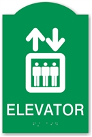 ADA Braille Elevator Sign
