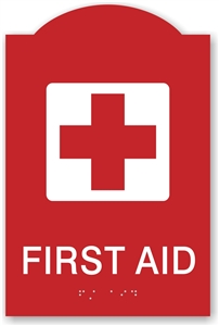 ADA Braille First Aid Sign