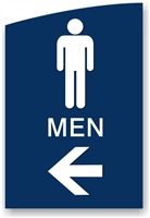 Directional Restroom Sign