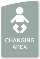 ADA Braille Baby Changing Sign