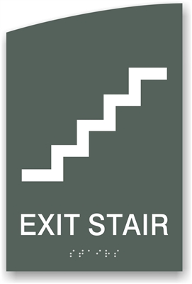 ADA Braille Exit Stair Sign