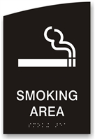 ADA Braille Smoking Area Sign
