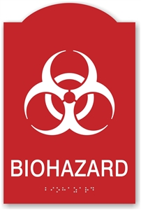 ADA Braille Biohazard Sign