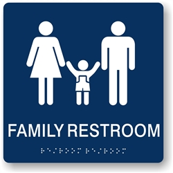 Family Restroom Braille Sign