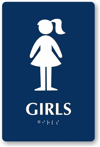 alternative views - Girl Bathroom Sign