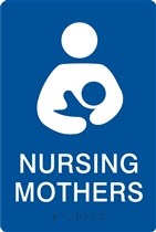 ADA Braille Nursing Mothers Sign