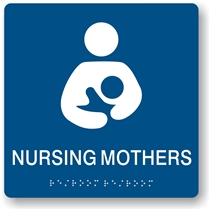 Nursing Mothers Braille Sign