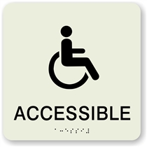 Accessible Braille Sign