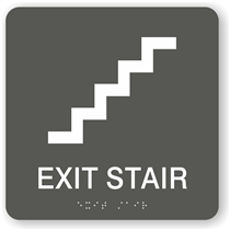 Stair Exit Braille Sign