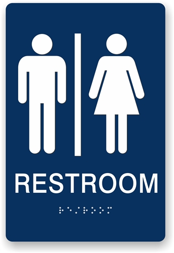 Bathroom Signs With Braille ada braille restroom sign