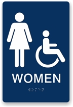 ADA Braille Women's Restroom Sign